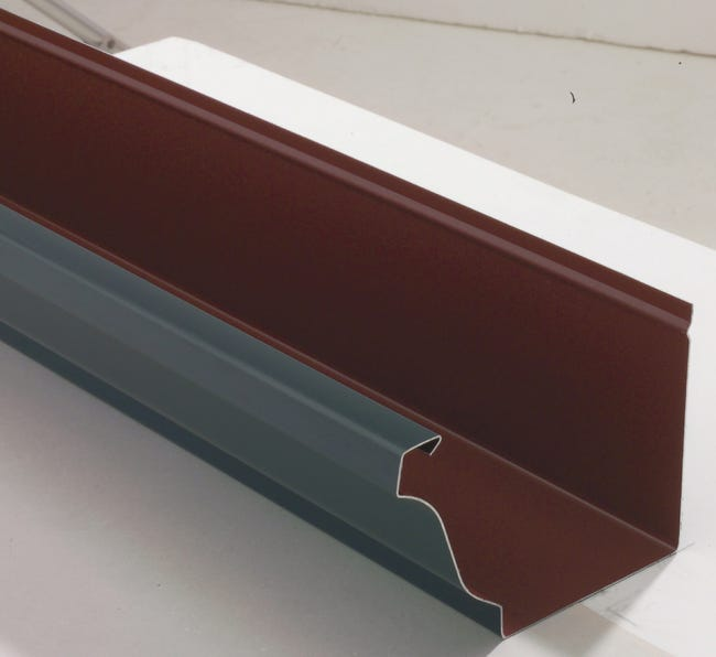 Gouttiere 300 Aluminium Lmc Virano Dev 33 Cm Ardoise L 2 M Leroy Merlin