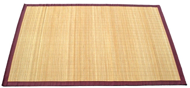 Tapis Naturel Rectangulaire L140 X L200 Cm Bambou