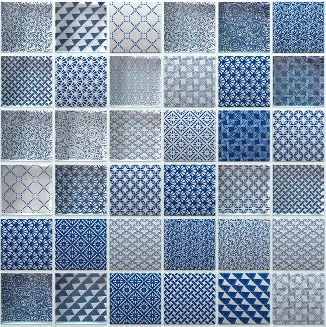 Mosaique Mur Argos Bleu 4 8 X 4 8 Cm Leroy Merlin