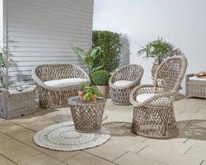 Image : Canapé 2 places de jardin en rattan naturel Casablanca loveseat  gris