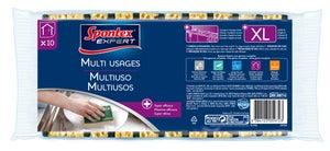 Lot de 10 éponges Multi-usages XL SPONTEX EXPERT