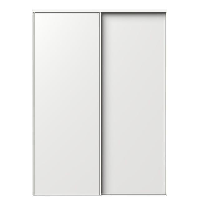 Porte De Placard Coulissante Blanc 2 Portes L 210 X H 250 Cm