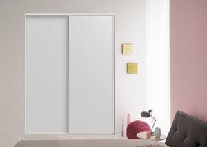 Lot de 2 portes de placard coulissante EKIPA l.180 x H.250 cm