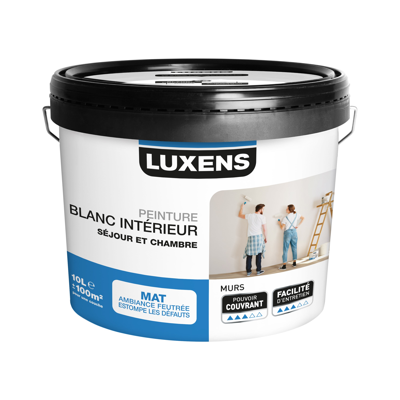 Peinture Mur Luxens Rafraichir Blanc Mat 10 L Leroy Merlin