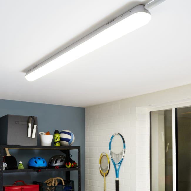 Reglette A Detection Led Integree Volga 1 X 35 W L 150 Cm Blanc Froid Inspire Leroy Merlin