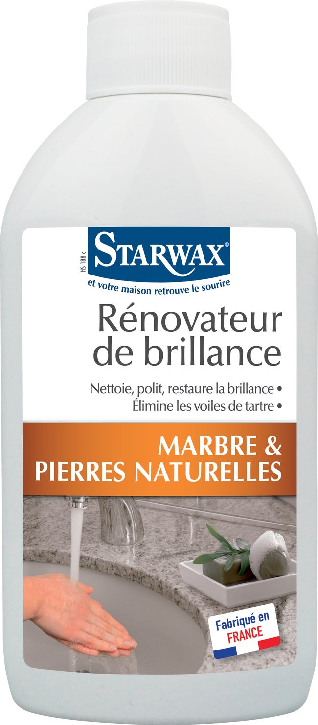 Renovateur Dalles De Terrasse rénovateur marbre starwax, incolore liquide, 250 ml