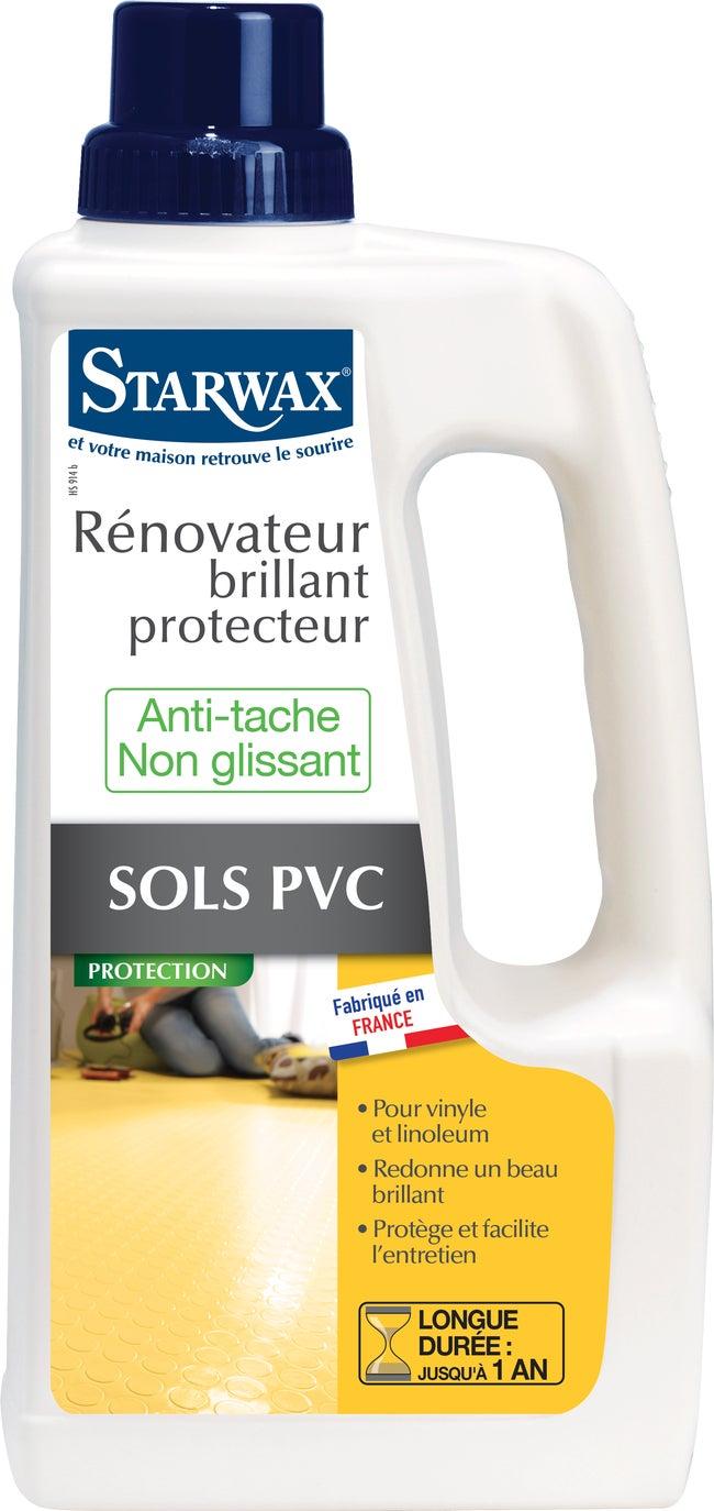 Quel Produit Pour Nettoyer Le Pvc rénovateur brillant sols plastiques starwax 1 l