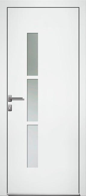 Porte D Entree Alu Kezia 2 Essentiel H 215 X L 90 Cm Vitree Blanc Pous Gauche Leroy Merlin