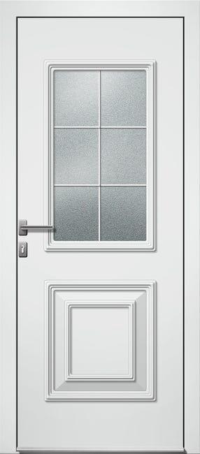 Porte D Entree Alu Utah 2 Essentiel H 215 X L 90 Cm Vitree Blanc Pous Gauche Leroy Merlin