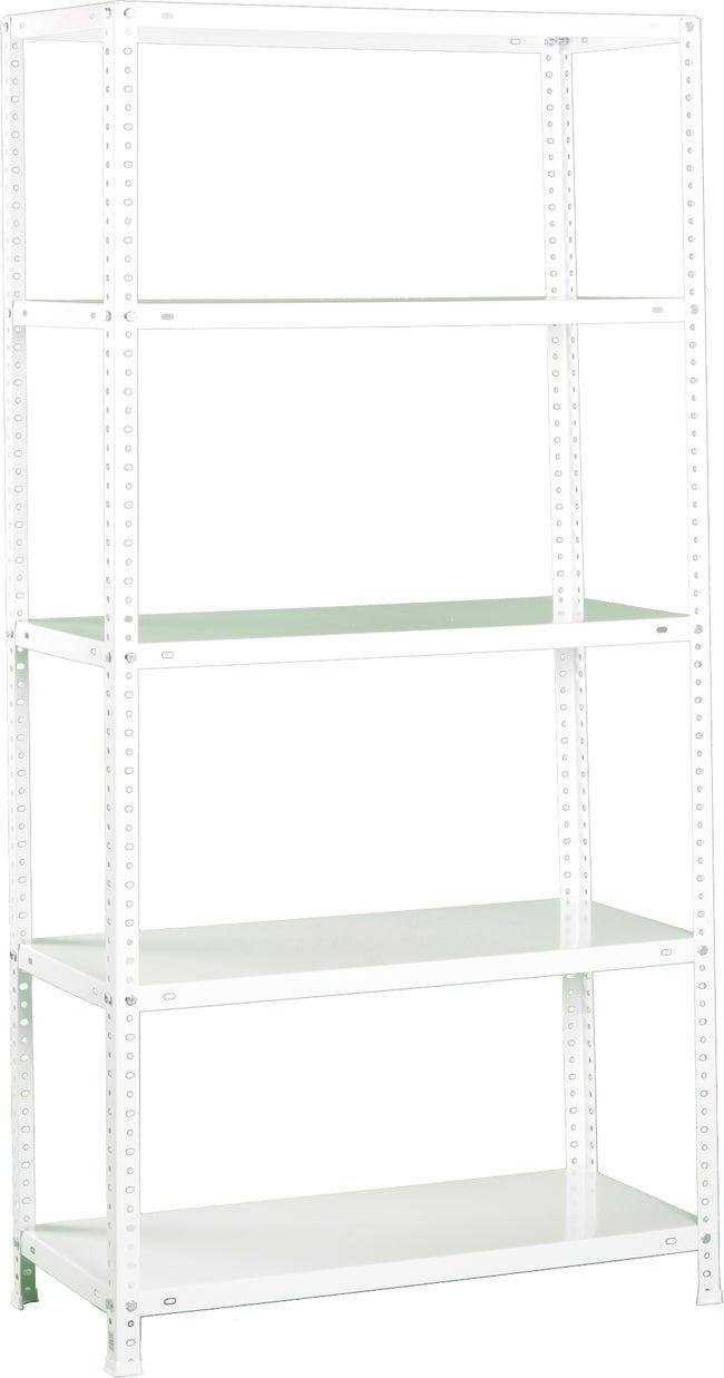 Etagère Acier Blanc époxy Simonrack 5 Tablettes L100 X H200 X P40 Cm