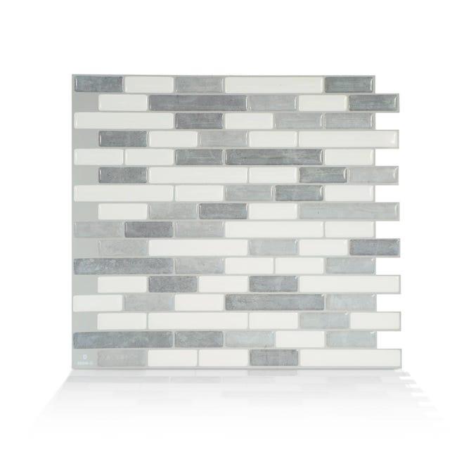 Credence Adhesive Muretto Silia Lot De 6 L 25 91 X L 23 11 Cm Smart Tiles Leroy Merlin