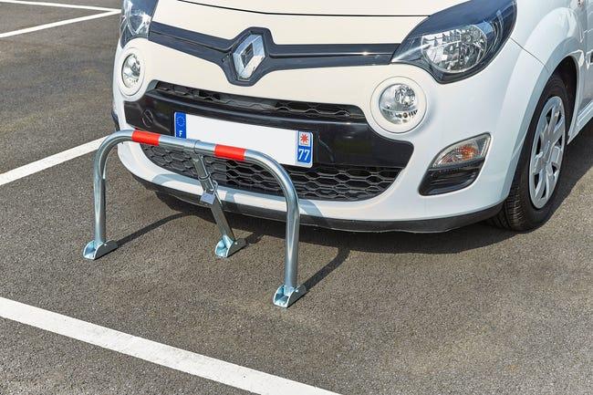 Barriere De Parking Rabattable Tube Galvanise Mottez Gris Leroy Merlin