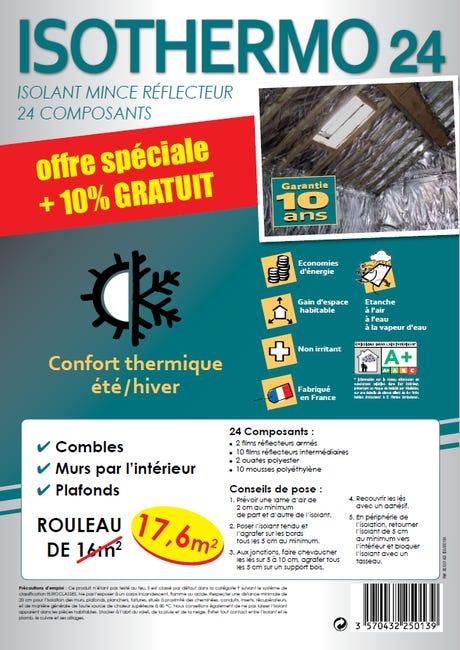 Rouleau Isolant Mince Reflecteur 24c Actis 10 X 1 6 M Ep 20 Mm 10 Gratuit Leroy Merlin