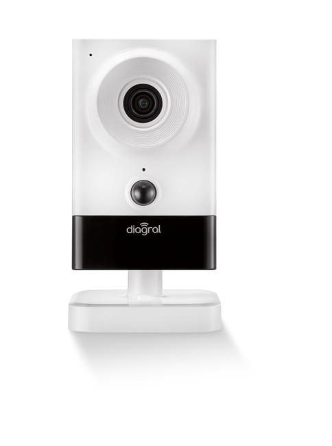Camera De Surveillance Interieure Ip Sans Fil Diag22vcf Blanche Diagral Leroy Merlin