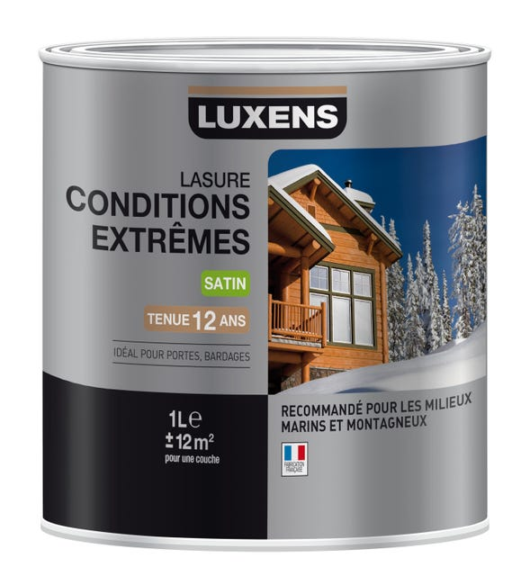 Lasure Luxens Conditions Extremes 1 L Chene Clair Leroy Merlin