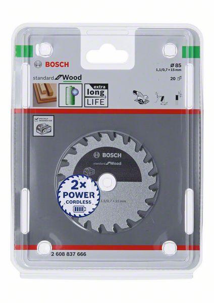 Lame Bois Bosch 2608837666 Pour Scie Circulaire 85x15x20