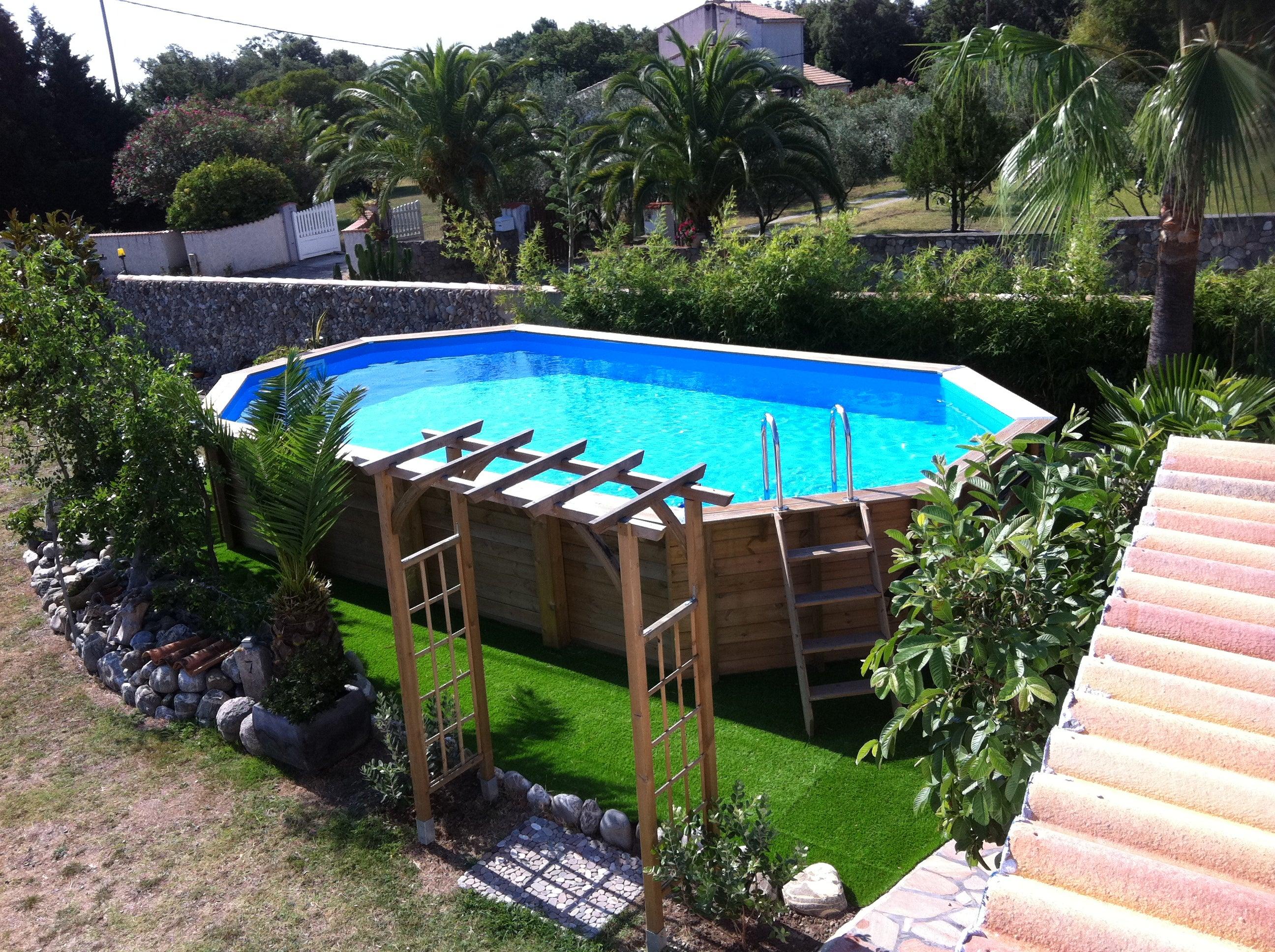 piscine hors sol ouessant 470x860 h130cm bleu ubbink octogonale x l moins de 5