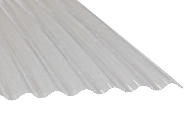 Plaque De Toiture Petite Onde Polyester Translucide L 0 9 X L 3 M Leroy Merlin