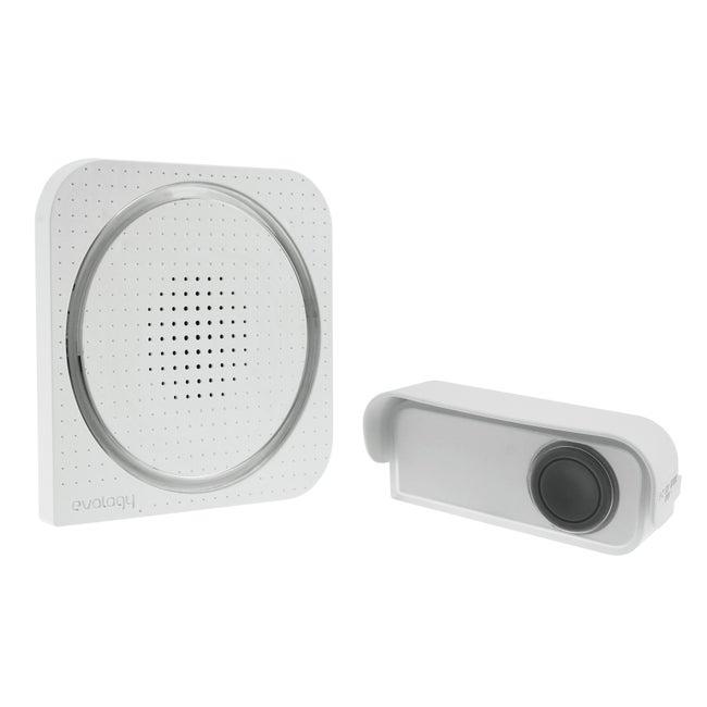 Carillon Sans Fil Enfichable Et Flash Evology Blanc
