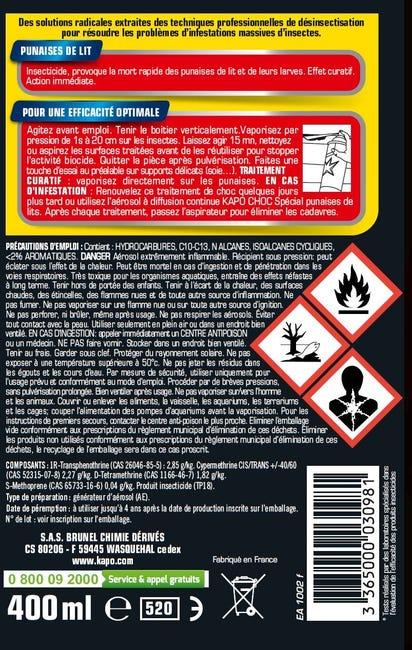 Insecticide Aerosol Punaises De Lit Kapo 400 Ml Leroy Merlin