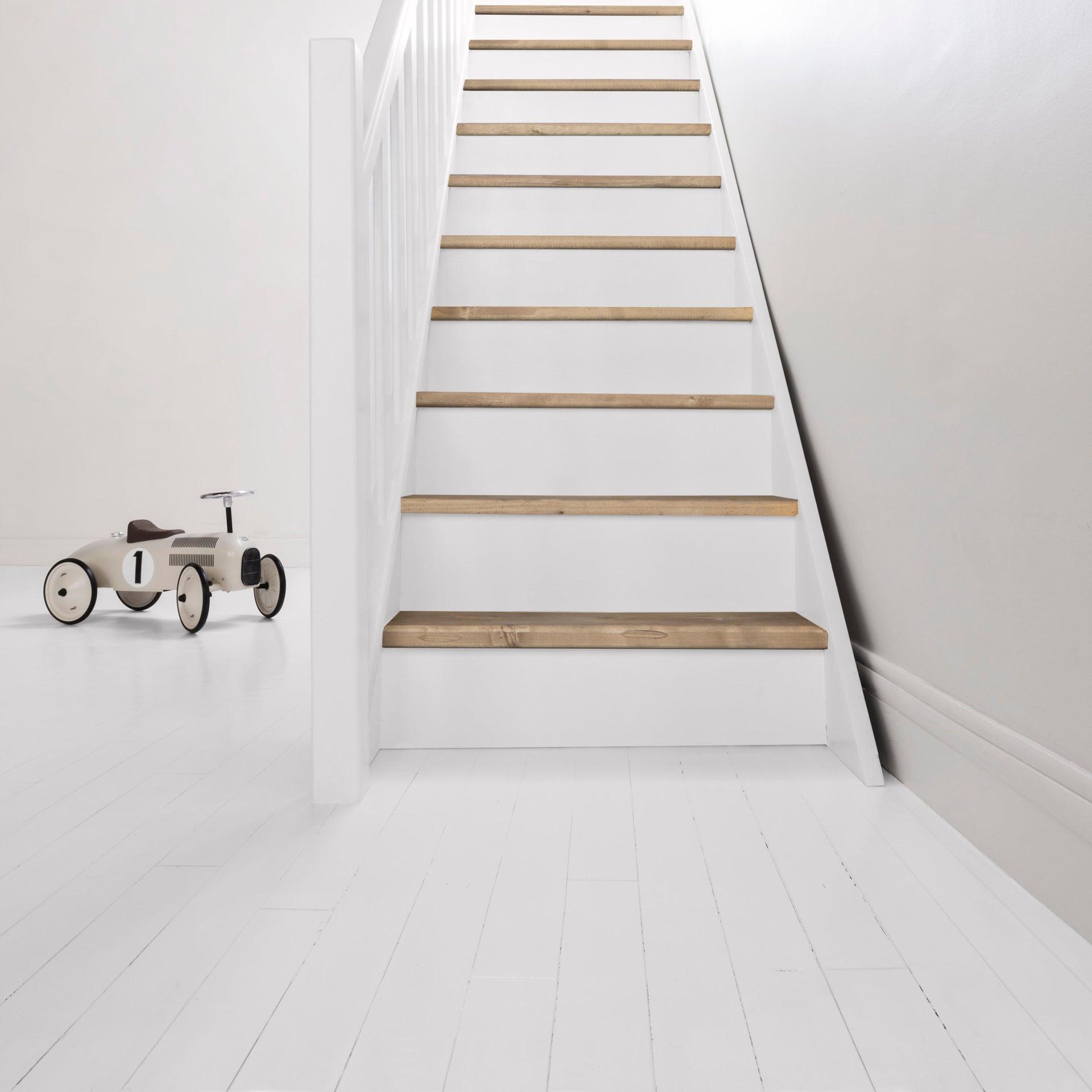 Peinture sol intérieur Parquet escalier décolab® V10, blanc, 10.10 l