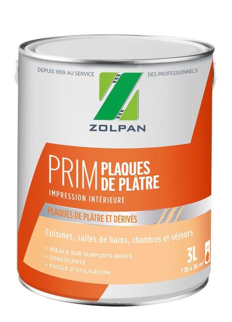 Sous Couche Plaque De Platre Zolpan 3 L Blanc Leroy Merlin