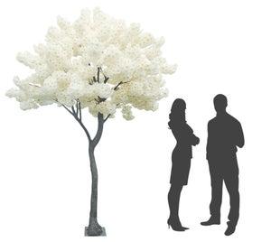 Arbre Artificiel Pommier en fleurs - Blanc -16 branches - H.270cm