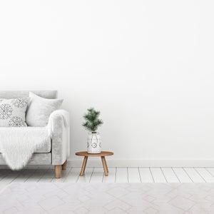 Image : Tapis blanc rectangulaire, l.150 x L.150 cm Pepita