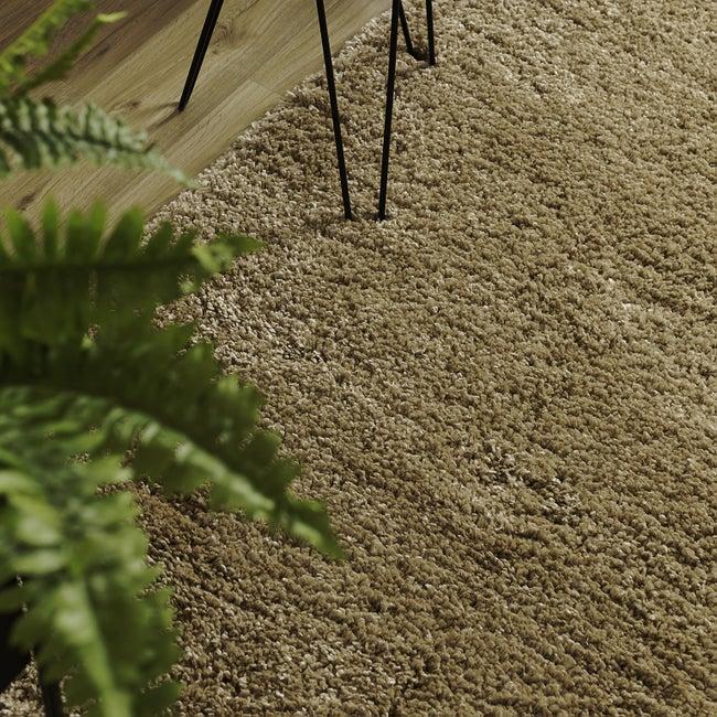 Tapis intérieur marron rectangulaire, l.200 x L.290 cm Fuz clair