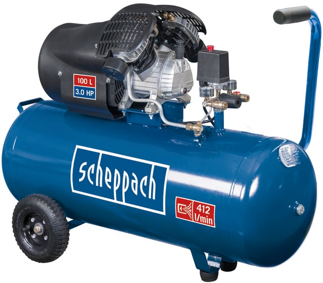 Compresseur Scheppach 100 L Hc100dc 230 V Leroy Merlin