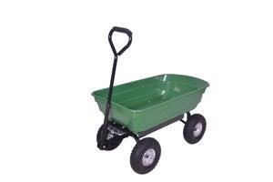 Image : Chariot de jardin sur 4 roues gonflables basculant TURFMASTER, 75 l / 250 kg