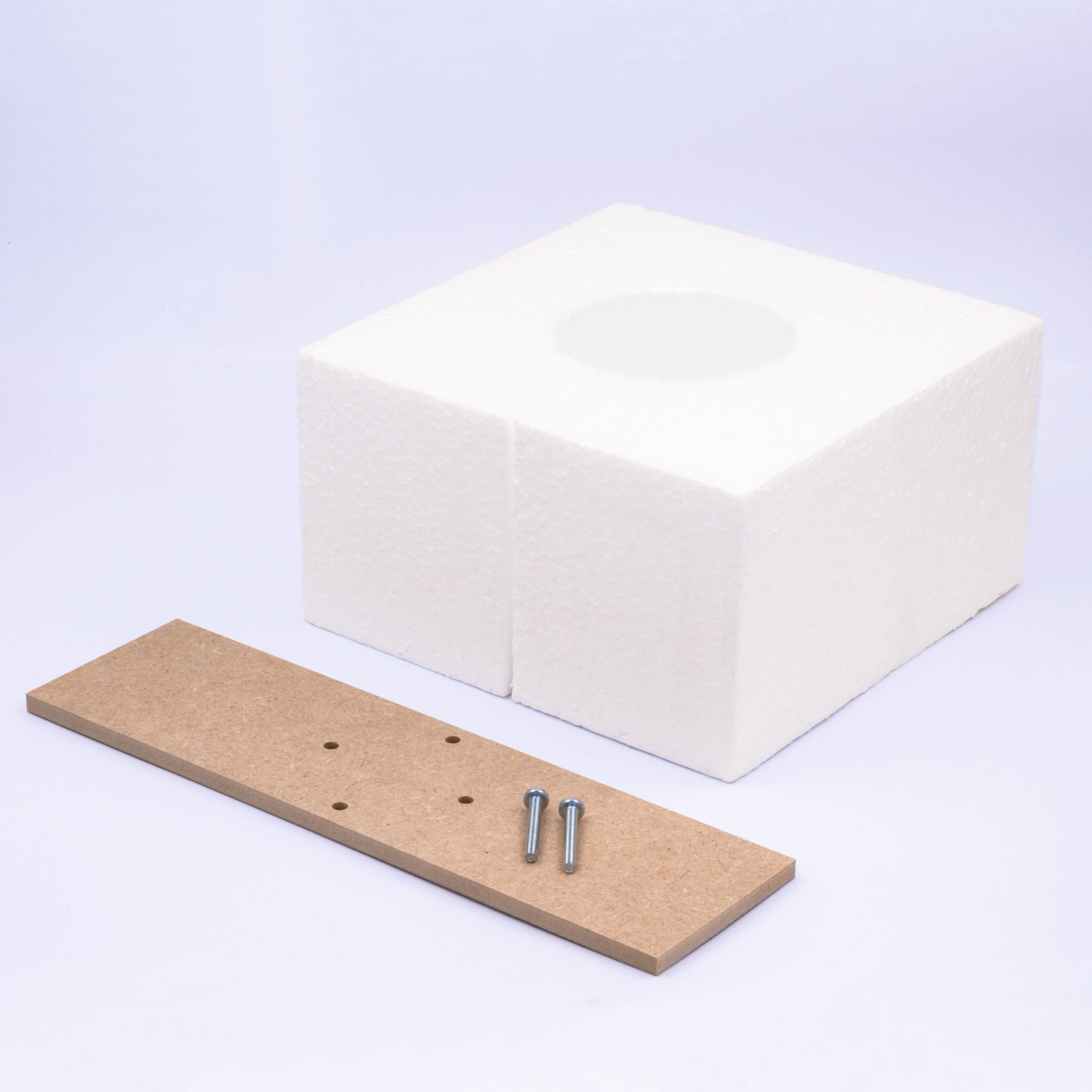 Kit Reservation Prise Au Sol Polystyrene Blanc Leroy Merlin