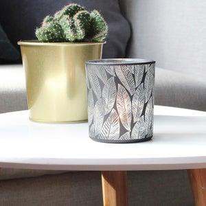 Image : Photophore Elna, verre, noir l.7 x H.7.8 cm
