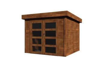 Abri de jardin bois Florencia, 9.96 m² Ep.28 mm