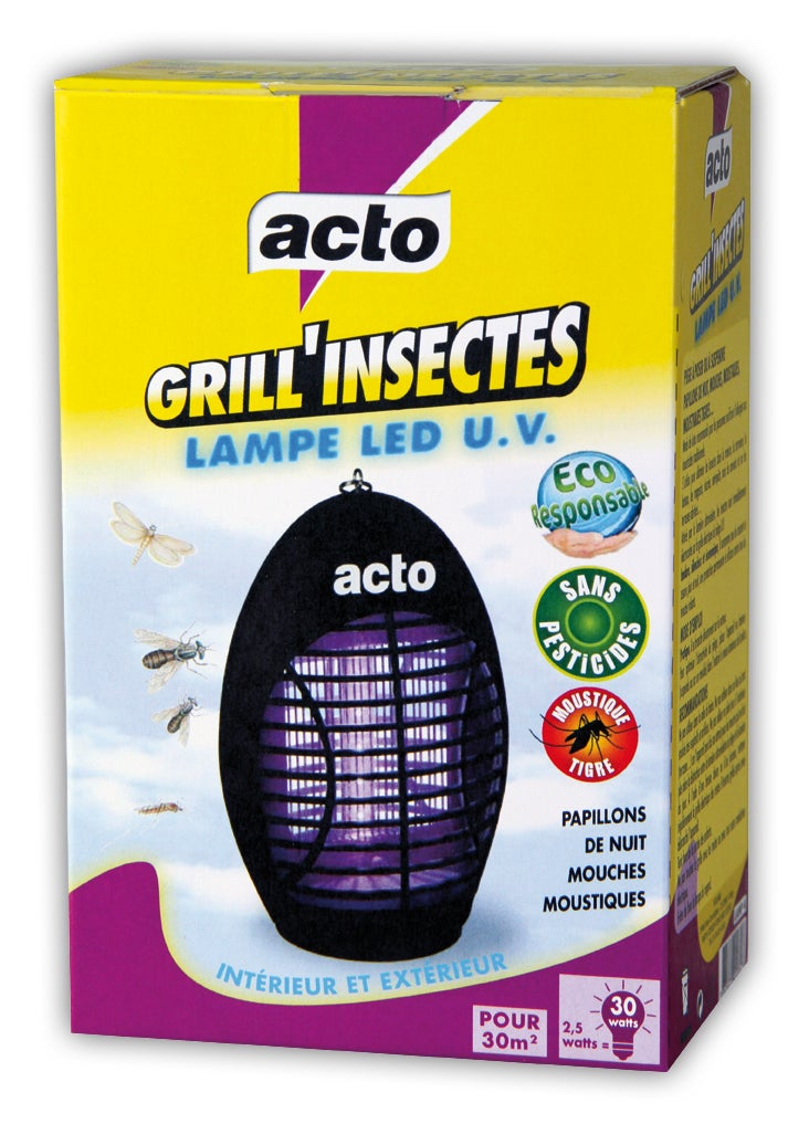 Lampe Anti Insectes Acto Grill Insectes Leroy Merlin