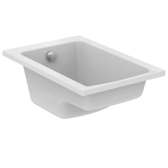 Baignoire Rectangulaire L 120x L 70 Cm Blanc Ideal Standard Connect Air Sabot Leroy Merlin