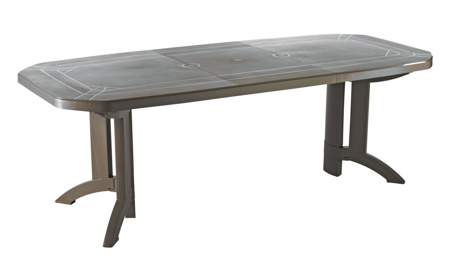 Table de jardin de repas GROSFILLEX Véga rectangulaire taupe 7