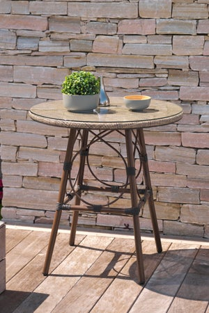Image : Table de jardin de repas Marius ronde lin 2 personnes