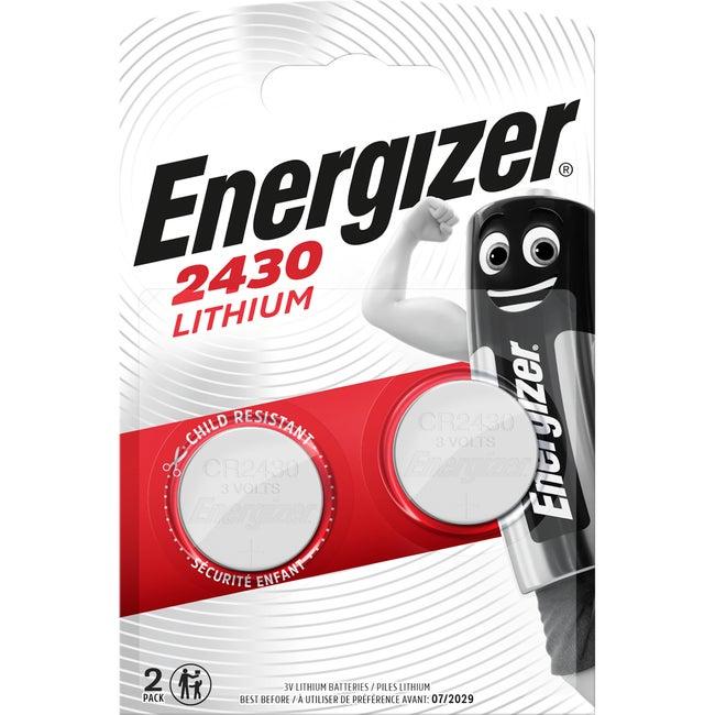 Lot De 2 Piles Lithium Cr2430dl2430 V Energizer