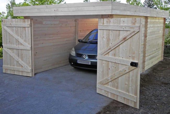 Garage Bois Do 3160 P 1 Voiture 17 35 M Leroy Merlin