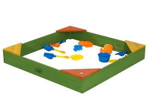Bac à sable bois Daisy SUNNY, vert, L.90 x l.90 cm