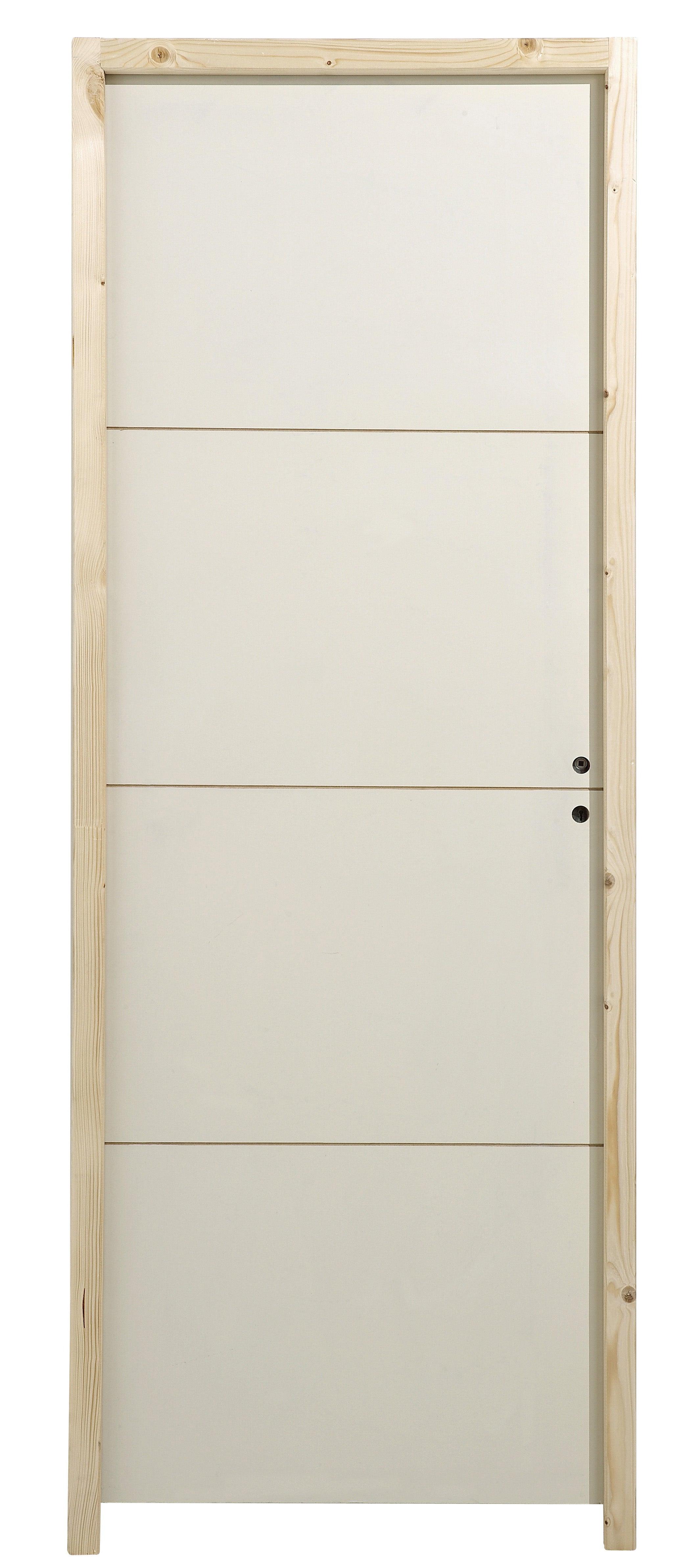 Bloc-porte articulé blanc Hauteur 40 mm