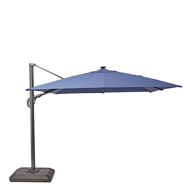 Parasol Déporté Sonora Bleu Carré L 288 X L 288 Cm