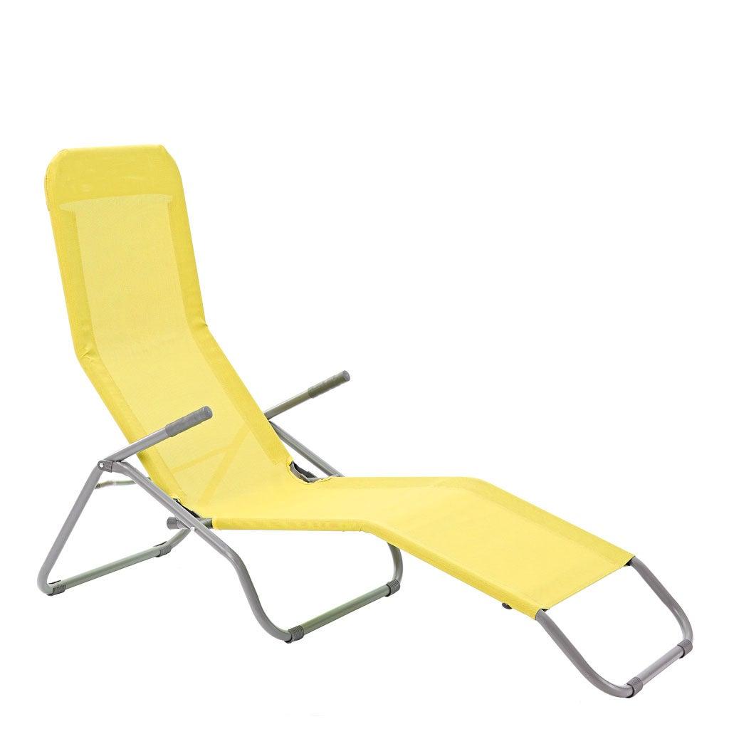 bain de soleil de jardin veia origami en acier jaune