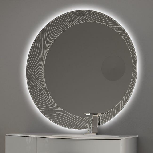 Miroir Lumineux Avec Eclairage Integre L 100 X H 100 Cm Led Leroy Merlin