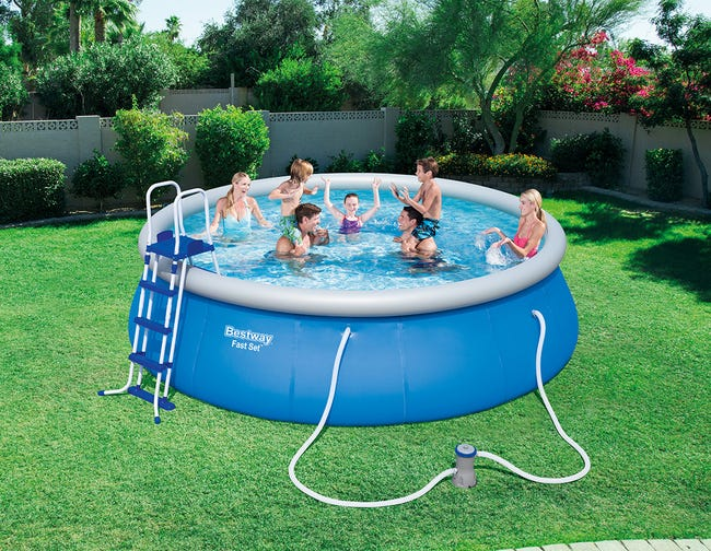 Piscine Tubulaire Fast Set Pools Bestway Diam 4 57 M X H 1 22 M Leroy Merlin