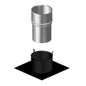 Image : Kit de jonction pour raccordement DIXNEUF Diam.80-100 mm noir
