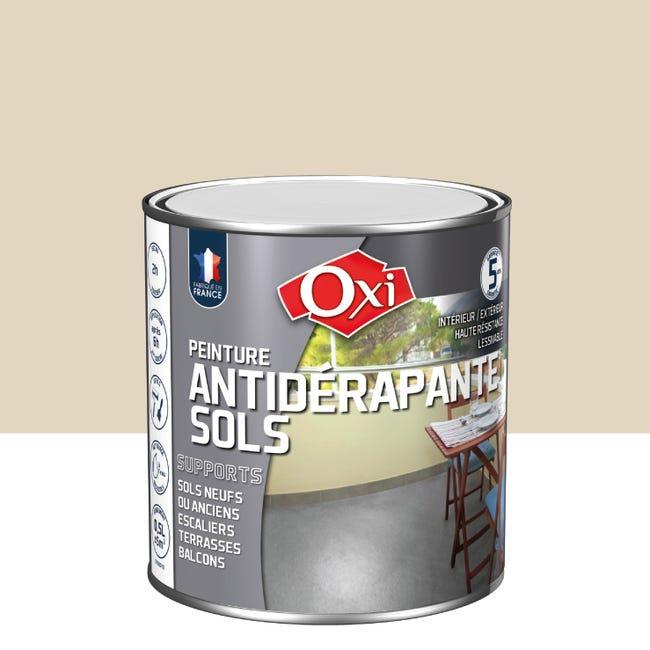 Peinture sol extérieur / intérieur Antidérapante OXI sable satiné 9.9 l