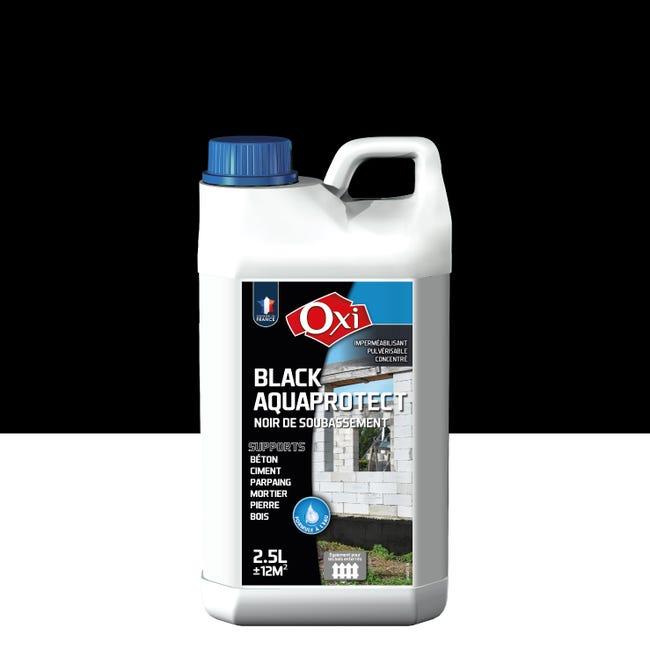 Revetement D Etancheite Mur Exterieur Oxytol Black Aquaprotect Noir 2 5l Leroy Merlin