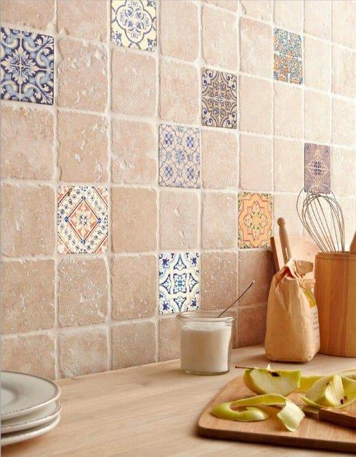 Travertin Mur Forte Pierre Mix Couleurs L 10 X L 30 5 Cm Renaissance Leroy Merlin